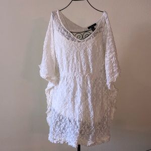 Tops - White lace babydoll top size XL